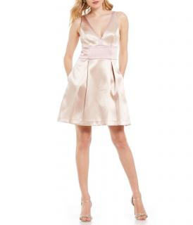 Badgley Mischka Dusty Nude Dress