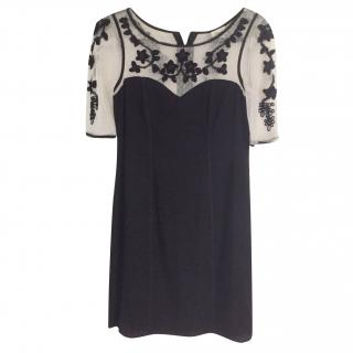 Temperley Sheer Panel Mini Dress