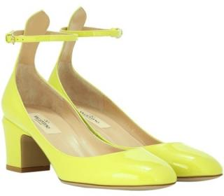 Valentino Neon Yellow patent leather Tango 2.5