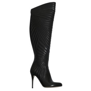 Valentino black over-the-knee boots