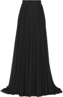 Elie Saab Double Layered Silk-Chiffon Maxi Skirt