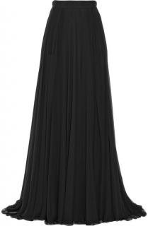 Elie Saab Double Layered Silk-Chiffon Maxi Skirt