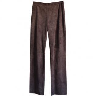 Loewe Brown suede pants