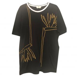 Fendi knit black t-shirt