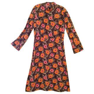 Marni Poppy Printed Dress, Size 42