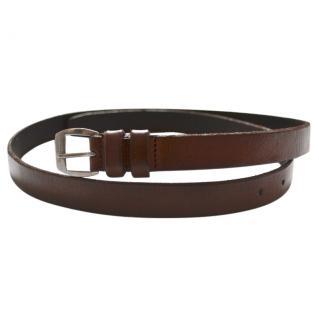 Saint Laurent brown leather belt