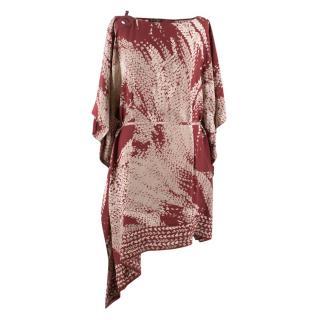 Loro Piana Silk Printed Kaftan Dress