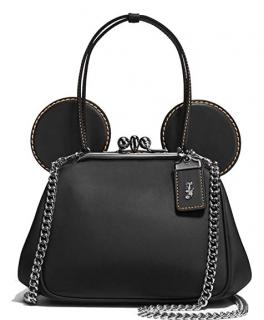 Coach x Disney Mickey Mouse Leather Kisslock Bag