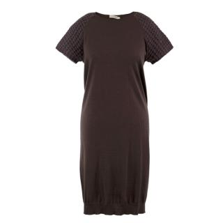 Brunello Cucinelli Cashmere-Silk Blend Jumper Dress