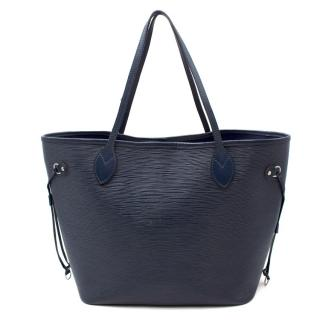 Louis Vuitton Neverfull Epi Leather Navy Bag