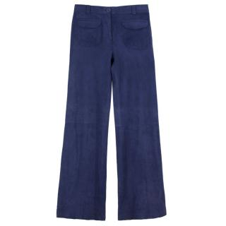Gerard Darel High-waisted Goat Velvet Flared Trousers
