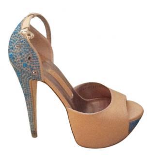 Gina Embellished Nude Desire Heels