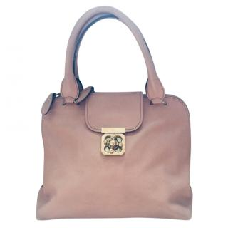 Chloe Elsie Dusky Pink Large shoulder bag