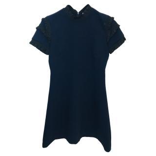 Sandro Navy Textured Dress