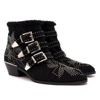 Chloe Susanna Studded Suede Ankle Boots