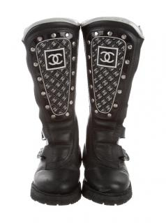 Chanel CC Limited Edition Motorcycle Boots