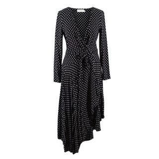 Zimmermann Black Polka Dot Wrap Dress