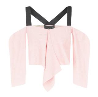 Roland Mouret 'Bach' Off-the-shoulder Cloque Top - Current Season
