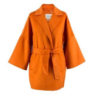 Max Mara Orange Oversize Cashmere Coat