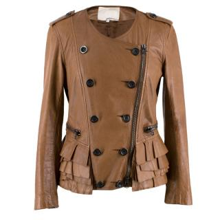 3.1 Phillip Lim Brown Leather Jacket