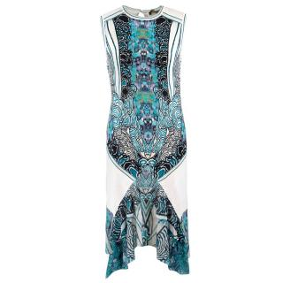 Roberto Cavalli Printed Ruffle Hem Fitted Dress