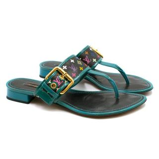 Louis Vuitton Turquoise Monogram Sandals