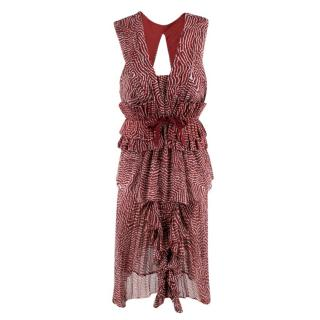 Isabel Marant Draped Top & Melissa Skirt Two Piece with Corset belt