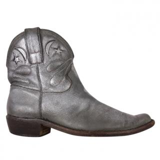 Golden Goose Silver Boots