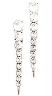 Oscar De Renta Crystal Tendril Drop Earrings