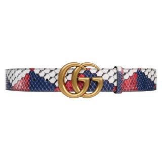 Gucci GG Buckle python belt