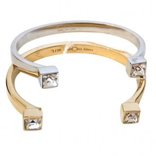 May Moma Fay Carre Stack Bracelets Gold / Platinum