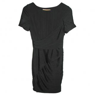 Halston Heritage black banded cocktail dress