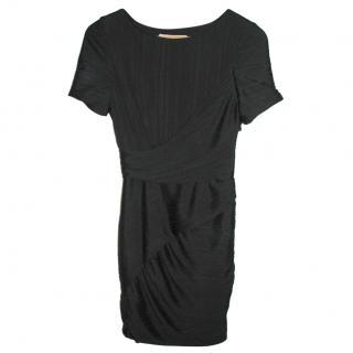 Halston Heritage black banded cocktail dress