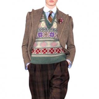 Ralph Lauren Collection hand knit cashmere sleeveless jumper