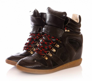 Isabel Marant Bekett Lace-Up Wedge Trainers