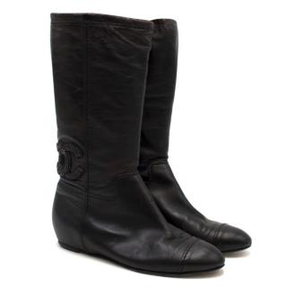 Chanel Vintage Leather Boots