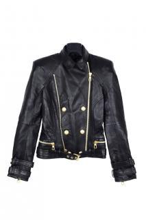 Balmain X H&M leather biker jacket