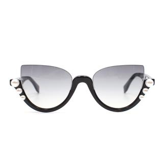 Fendi Ribbon and Pearl Sunglasses