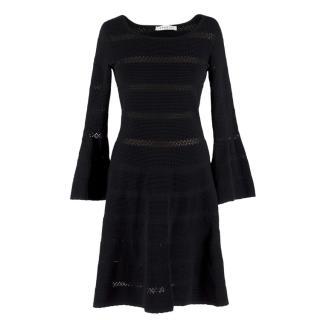 Sandro Black Stretch Knit Dress