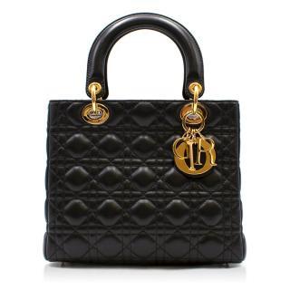 Dior Medium Black Lady Dior Bag