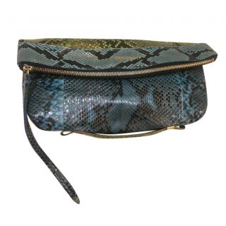 Jimmy choo python clutch bag