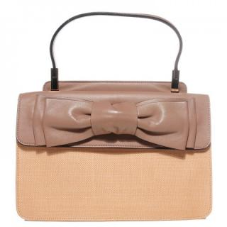 Valentino Nappa and Straw Aphrodite Bow Bag