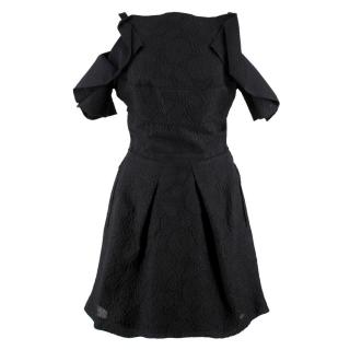 Roland Mouret Black Ruffled Dress
