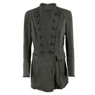 Pierre Balmain Khaki Military Jacket