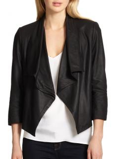 Alice & Olivia Black Warren Suede Jacket