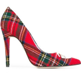 Chiara Ferragni Tartan cloth 'Flirting' pumps