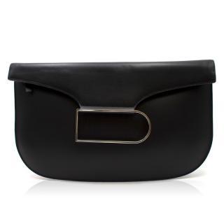 Delvaux Box Calf Double Je Clutch Bag - Current Season