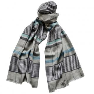 Salvatore Ferragamo striped wool-silk blend scarf