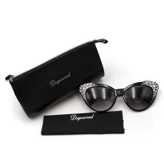 DSquared2 Rhinestone Encrusted Cat-Eye Sunglasses