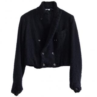 Comme des Garsons navy wool cropped jacket